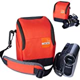 First2savvv high quality anti-shock Orange Nylon camcorder case bag for panasonic Lumix HC-V100