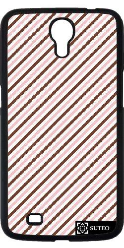 Hülle für Samsung Galaxy Mega 6.3 (GT-I9205) - Stripes , Braun, Rosa und Weiß - ref 360