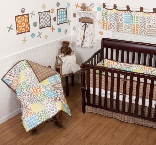 Review Sumersault 10 Piece Crib Bedding Set Doodles