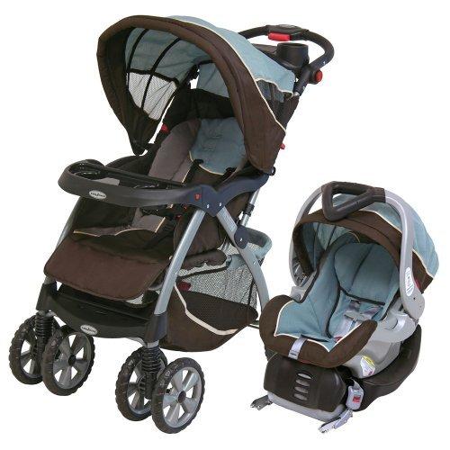 4 Wheel Travel System Baby Car Seat Infant Push Stroller Walker Roller