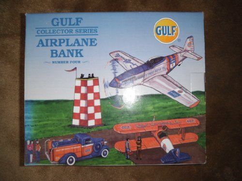 Gulf Collector Series Die Cast Airplane Bank Number 4 in the Series Limited Edition