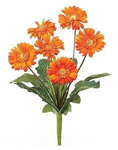 """13"""" Artificial Orange Gerbera Daisy Silk Flower Bouquet"""