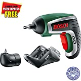 Advanced Bosch XS-ProSPEC IXO IV 3.6v Cordless Screwdriver with Integral Lithium Ion Battery + Angle Driver + 2 FREE Meals from Pizza Express from Classic, Leggera Pizza, Pasta or Salad Menu [Pack of 1]w/Min 3yr Cleva® Warranty