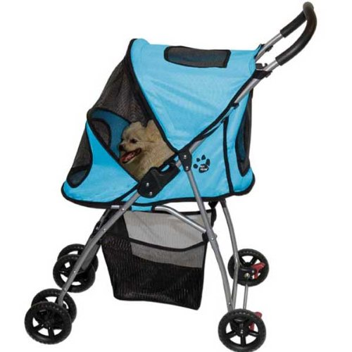 Pet Gear Ultra-Lite Pet Stroller for cats and dogs up to 20-pounds, Ice Blue