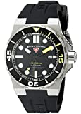 Swiss Legend Men's Abyssos 46mm Black Silicone Band Steel Case Automatic Date Watch 10062A-01-YA-SM-RDB