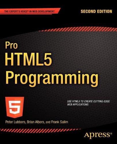 Pro HTML5 Programming (Professional Apress)