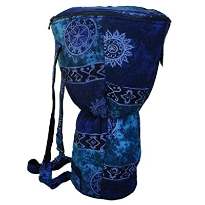 X8 Drums Djembe Backpack Bag with Blue Celestial Design, Large