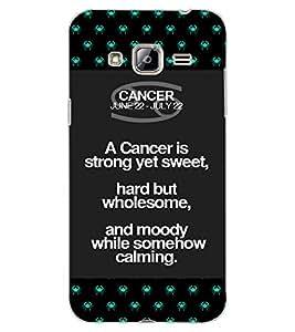 ColourCraft Zodiac Cancer Design Back Case Cover for SAMSUNG GALAXY J3 (2016)