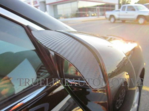 Black Carbon Fiber Mirror Visor Rain Guards (2014 Accord Rain Guards compare prices)