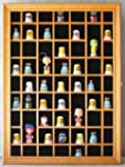 59 Thimble Display Case Cabinet, with...