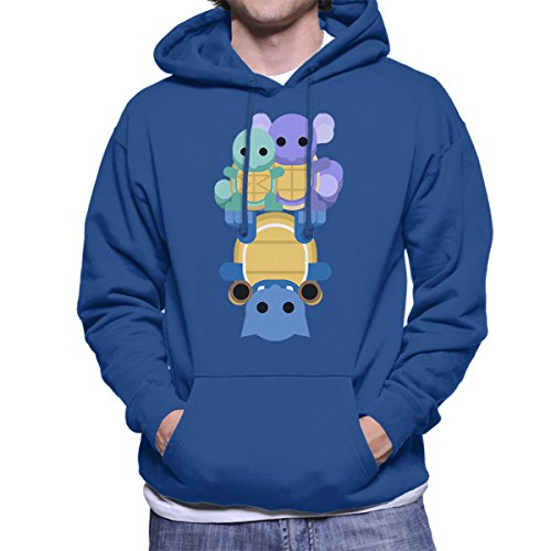 Pokemon-Squirtle-Wartortle-Blastoise-Mens-Hooded-Sweatshirt