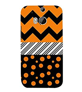 Dotted Chevron Lines 3D Hard Polycarbonate Designer Back Case Cover for HTC One M8 :: HTC M8 :: HTC One M 8
