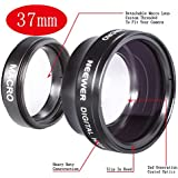 NEEWER 37MM High Definition Professional Photography Camera Lens - Wide Angle / 0.45X Macro Conversion Lens for Kodak, Canon & ANY Camera with a 37MM Filter Thread !!