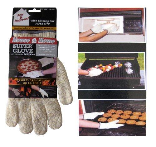Ritz Heat Resistant Hot Surface Handler Super Glove With Silicone For Super Grip. New & Improved