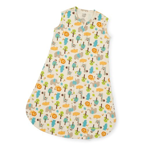 Summer Infant SwaddleMe Sack, Peek-a-Boo Safari, Medium