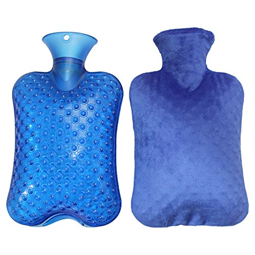 KOODER Hot Water bottle,Slow down the symptom of dysmenorrhea,warm your stomach,Winter heating products! 2L(Blue) (Small Hot Water Bag compare prices)