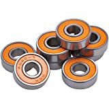 New Skateboard Bearings Pro Competition Quality for Precision and Speed - Pack of 8 - Abec 7