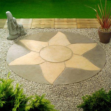 Sunstone Mini Paving Circle Kit - 1.8m diameter Limestone Pewter