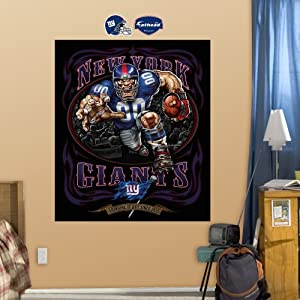 NFL New York Giants Defiant Giant Grinding It Out Mural Wall Graphics by Fathead