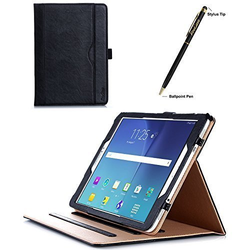 ProCase Samsung Galaxy Tab S2 9.7 Case - Leather Stand Folio Case Cover for 2015 Galaxy Tab S2 Tablet (9.7 inch, SM-T810 T815), with Multiple Viewing angles, auto Sleep/Wake, Document Card Pocket (Black)