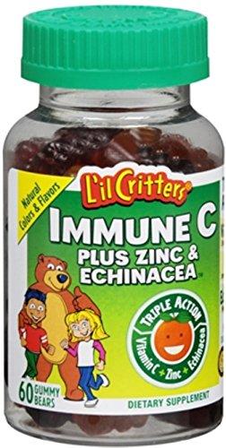 L'il Critters Gummy Immune C Plus Zinc & Echinacea, 60 Count