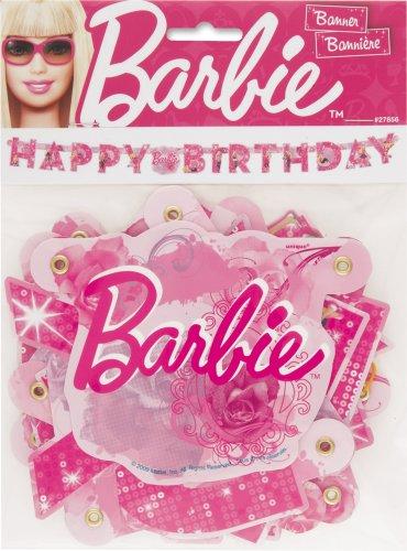 5ft Barbie Birthday Banner - 1