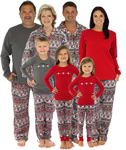 sleepytimepjs-family-matching-kids-pyjama-nordic-red-top-printed-pant-6