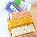All Natural Handmade Soap Gift Set - Aloe Calendula, Orange Hibiscus w/ Aloe, Ginger Lime w/ Aloe