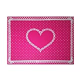 Medium Size Place-mats for Family Dining, Suitable for All Ages. (1, Pink)