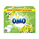 Omo lessive tablette lilas blanc et ylang ylang x56 28 lavages - Lot de 2