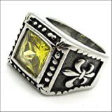 Size : 8 Us Emerald Hollow Cocktail Fashion Charm Vintage Jewelry Rings for Women - Men Skrig0329