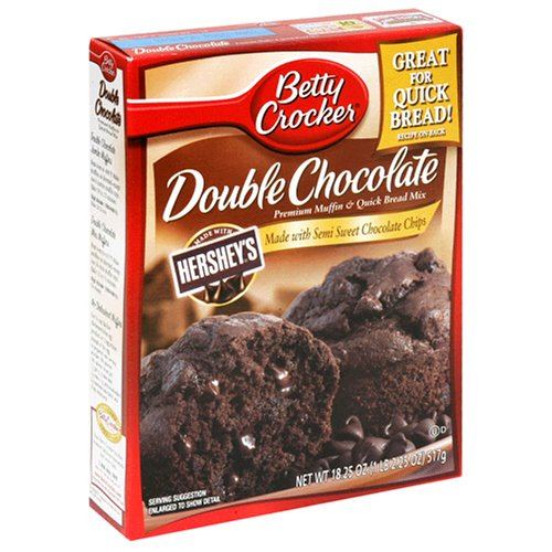 Buy Betty Crocker Premium Muffin Mix, Double Chocolate, 18.25-Ounce Boxes (Pack of 12) (Betty Crocker, Health & Personal Care, Products, Food & Snacks, Baking Supplies, Baking Mixes, Muffin Mixes)