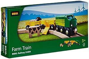 Brio - 33404 - Jeu de Construction - Train des Animaux de la Ferme
