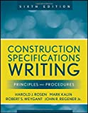 Construction Specifications Writing: Principles and Procedures - 0470380365
