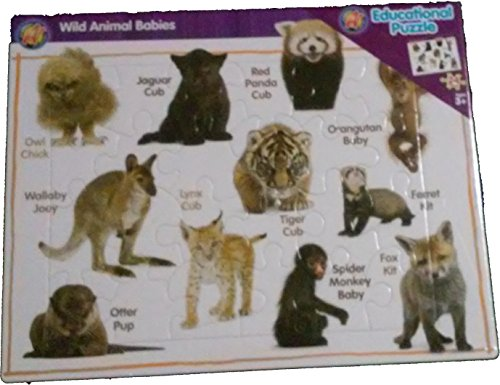 Wild Animal Babies Educational Puzzle
