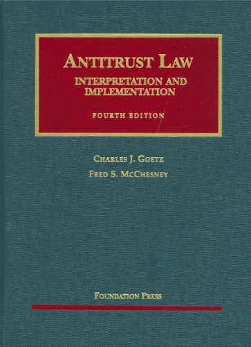 Antitrust Law, Interpretation and Implementation...