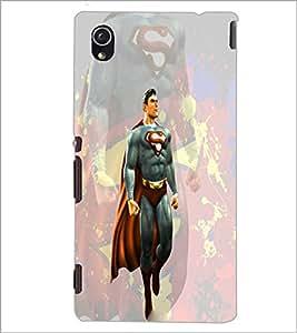 PrintDhaba Superman D-3945 Back Case Cover for SONY XPERIA M4 AQUA (Multi-Coloured)