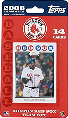 Topps MLB Baseball Cards 2008 Boston Red Sox 14 Card Team Set