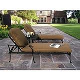 Oakland Living Hampton 3-Piece Chaise Lounge Set with Sunbrella Cushions