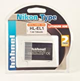 Hähnel HL-EL1 Li-Ion Battery 7.4 V 800 mAh Replaces Nikon EN-EL1 for Coolpix 4500 / 4800 / 5400 / 5700 / 8700 and Konica Minolta A200