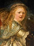 'Rembrandt Harmenszoon Van Rijn-The Night Watch (detail Of The Face Of The Girl) ,1642' Oil Painting, 8x11 Inch / 20x27 Cm ,printed On High Quality Polyster Canvas ,this Beautiful Art Decorative Canvas Prints Is Perfectly Suitalbe For Bedroom Gallery Art And Home Artwork And Gifts
