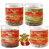 Chocholik Dry Fruits - Almonds Peri Peri, Almonds Rose, Gulkand & Italian Herbs With Small Ganesha Idol - Diwali...
