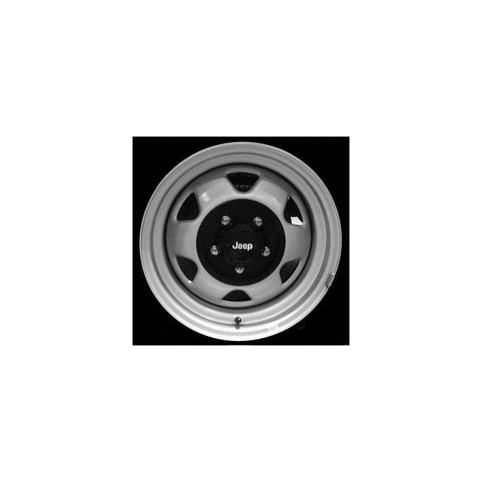 93 JEEP GRAND CHEROKEE STEEL WHEEL RH (PASSENGER SIDE) RIM 15 INCH SUV
