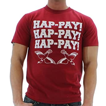 Men's Hap-Pay Hap-Pay Happy Duck Commander Duck Dynasty T-Shirt Tee Size L