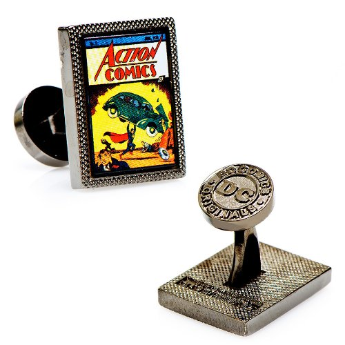 Superman Superman First Issue Comic Cover Cufflinks (Black)