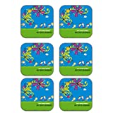 MeSleep Love Rakhi Wooden Coaster-Set Of 6
