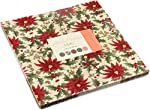 "Moda UNDER THE MISTLETOE Layer Cake 10"" Precut Fabric Quilting Squares Assortment 3 Sisters 44070LC"