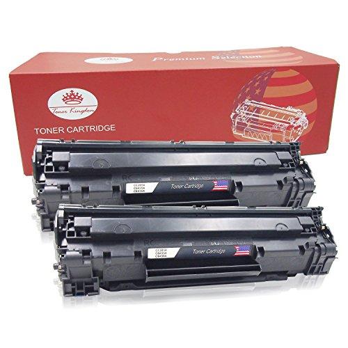 Toner Kingdom 2er Pack Schwarz Toner kompatibel zu HP CE285A 85A
