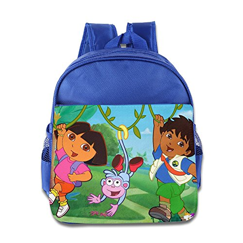 [Dora's Enchanted Forest Adventures Toddler School Backpack RoyalBlue] (Dora Diego And Boots)