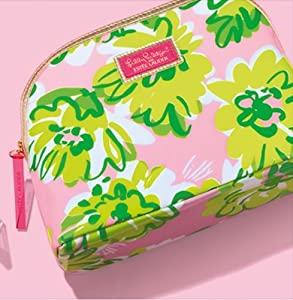 Estee Lauder Lilly Pulitzer Designer Floral Cosmetic Makeup Bag 2013 New